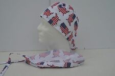 Saruni Industries Unlined Surgical Cap - American Flag