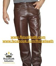 NUOVO 100% real leather pants Leder HOSEN PANTALON Fetish Gay per gli atleti JEANS BONDAGE