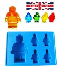 Silicone 5 Robot Men Man Chocolate Soap Ice Cube Mould Mold FREE UK DELIVERY