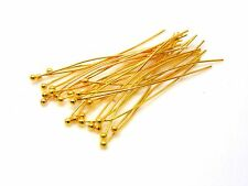 100 x 14mm plaqué or ball head pins bijoux craft conclusions R172