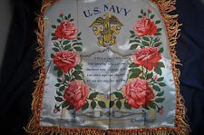 WW2 US Navy Sweetheart Pillowcase by Velvograph form Great Lakes Naval Training