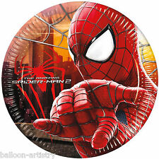 8 Marvel The Amazing Spider-Man 2 Movie Party Disposable 20cm Paper Plates