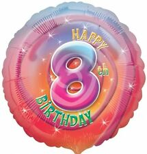 "Happy 8th Birthday Foil Balloon - Multi-Coloured 17"" {Anagram} (Helium/Party)"
