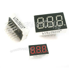 "2  0.36"" 7 Segment Red LED Display 3 Digit Common Anode"