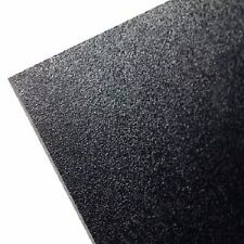 """ABS Black Plastic Sheet 1/4"""" x 24"""" x 24""""  (.250"""") Haircell 1 side 6mm stereo *"""