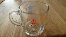 1984 Los Angeles Olympic Games McDonald's Promotional Glass Coffee Mug Cup 3""