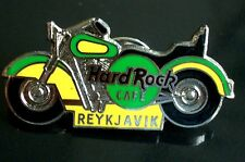 HRC Hard Rock Cafe Reykjavik Green Yellow Harley Motorcycle Made by FC Parry