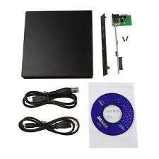 Portable USB 2.0 DVD CD DVD-Rom SATA External Case Slim for Laptop Notebook FT
