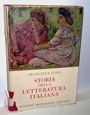 F.Flora Storia della letteratura Italiana  1949