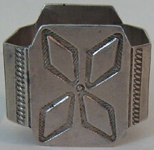 VINTAGE NAVAJO INDIAN STAMPED SILVER NAPKIN RING
