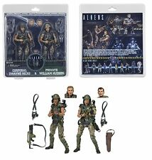 "NECA Aliens 7"" escala Hicks Y Hudson colonial marines 2-Pack 30TH aniversario"