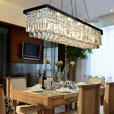 "40"" Modern Crystal Pendant Light Ceiling Lamp Chandelier Dining Room Lighting"