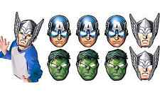 NEW Avengers Assemble Paper Masks Birthday Favors Kids' Party Supplies Decor 8ct