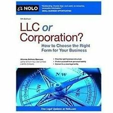 LLC or Corporation?: How to Choose the Right Form for Your Business by Mancuso,
