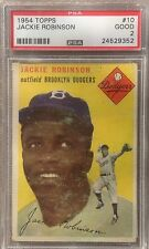 1954 TOPPS # 50 JACKIE ROBINSON BROOKLYN DODGERS PSA 2 Vintage Card