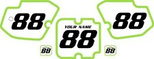 1988 Kawasaki KX500 Custom Pre-Printed White Backgrounds Green Bold Pinstripe