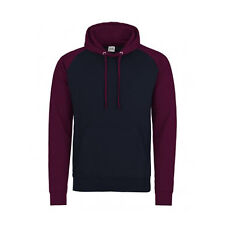 Baseball Contrast Sleeves 2 Colour Unisex Pullover Hoodie NEW S-XXL