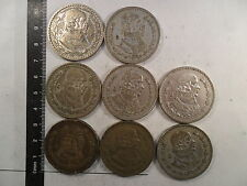 LOT OF 8 - 1 PESO SILVER COINS MEXICO