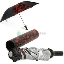 Portable Creative Fashion Three Folding Sun-rain Umbrella + Wine Bottle BLACK