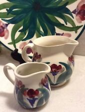 Lot Of 2 Pitchers & 1 Art Plate Dennis Townsend Iden Pottery Rye-Sussex England