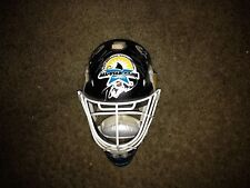 Kariya/Selanne/Hebert Signed SJ Sharks Mini Allstar Game Goalie Helmet