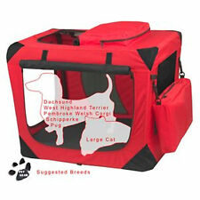 """Pet Gear Generation II Deluxe Portable Soft Crate 26.5"""" Red Poppy 30lbs"""