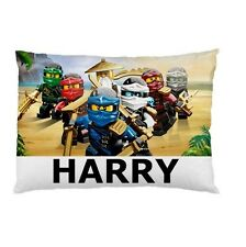 LEGO NINJAGO Personalized childrens kids bed CUSTOM DESIGNED pillow case