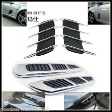 Hood Side Fender Exterior Decorative Chrome Air Flow Intake Vent Grille for Benz