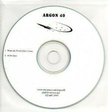 (949H) Argon 40, When the Words Don't Come - DJ CD
