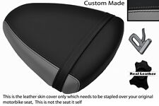 GREY & BLACK CUSTOM FITS SUZUKI TL 1000 R 98-02 REAR LEATHER SEAT COVER