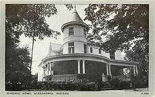 Indiana, IN, Alexandria, Masonic Home Postcard