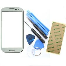 White Outer Screen Glass Lens Replacement for Samsung Galaxy i9300 S3 + Tools