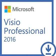 Scrap/barebone pc + microsoft visio 2016 pro 32/64 bits coa license key