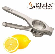 Lemon Squeezer by Kitalet (TM) - Premium Quality Professional Stainless Steel Ma