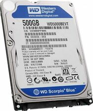 "Western Digital Scorpio Blue 500 GB 5400 RPM 2.5"" WD5000BEVT Hard Drive HDD Sata"