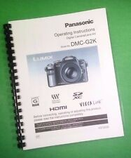 COLOR PRINTED Panasonic DMC-G2K Manual User Guide 220 Pages