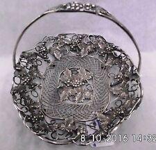 """Victorian Silverplate Wire Basket - 6 1/2"""" x 6 1/4"""" x 4 3/4"""" - 1900"""