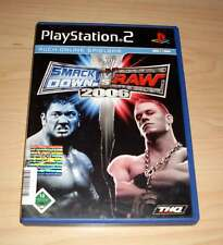 Playstation 2 - SmackDown! vs. Raw 2006 Kampfsport Deutsch komplett PS2
