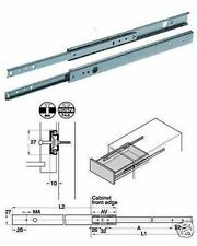 Drawer Runners (Pair) 278mm - 452mm For 27mm Grooved Drawers 420.95.456 (Hafele)