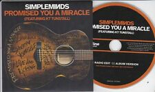 SIMPLE MINDS PROMISED YOU A MIRACLE RARE 2 TRACK PROMO CD [KT TUNSTALL]