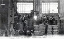 CPA 09 PAMIERS USINE METALLURGIQUE FONDERIE DE FONTES LA COULEE DANS LES MOULES
