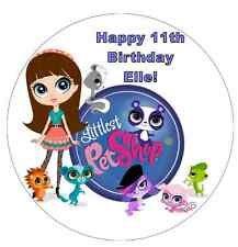 Littlest Pet Shop Personalised Wafer Paper Topper For Large Cake  7.5""