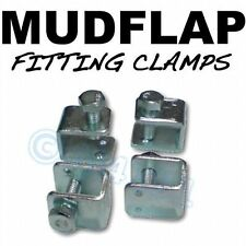 Mudflap Mud Flap Fitting fixing U CLAMPS x 4 -LANDROVER