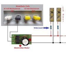 Beleuchtung Set (20 X25mm Led modul+ Gleichrichter-Modul+ Widerstände) -