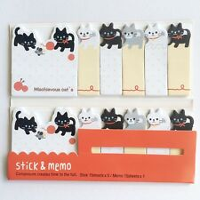 90 Sheets Cute Kitten Cat Mini Sticky Notes Page Marker Memo Tab Sticker