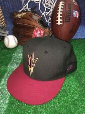 ASU Arizona State University New Era 5950 Fitted Hat Cap Size 7 1/8  h12