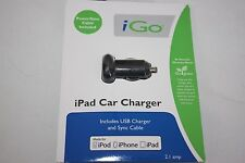 iPhone - iPad - ipod Car Charger iGo NEW NWT Power Sync Cable Included