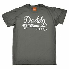 Daddy Since T-SHIRT Dad Birth Fathers Personalised Funny Present Gift birthday