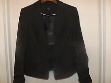 SIZE 12 BLACK MIX PIN DOT JACKET MARKS AND SPENCER COLLECTION 49.50