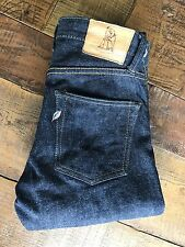 Pure Blue Japan Jeans PBJ XX-013 Slim Tapered Raw Indigo Selvage Selvedge Sz 28